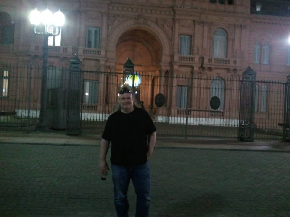 Vor dem Regierungssitz von Buenos Aires