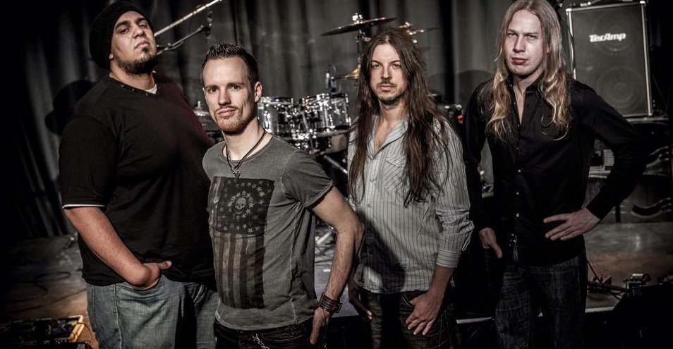 "v.l.: Andrew ""The Bullet"" Lauer, bass (Paul Gilbert), Hagen Grohe, vocals (The Joe Perry Project), Alex Landenburg, drums (Rhapsody), Marco Wriedt, guitar (Axxis)"