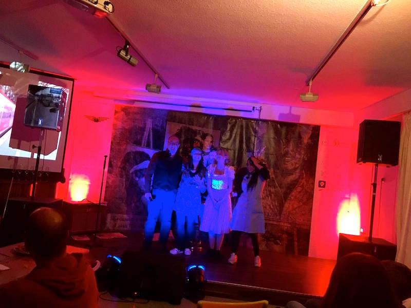 Dieter, Meggi, ich und Naima!