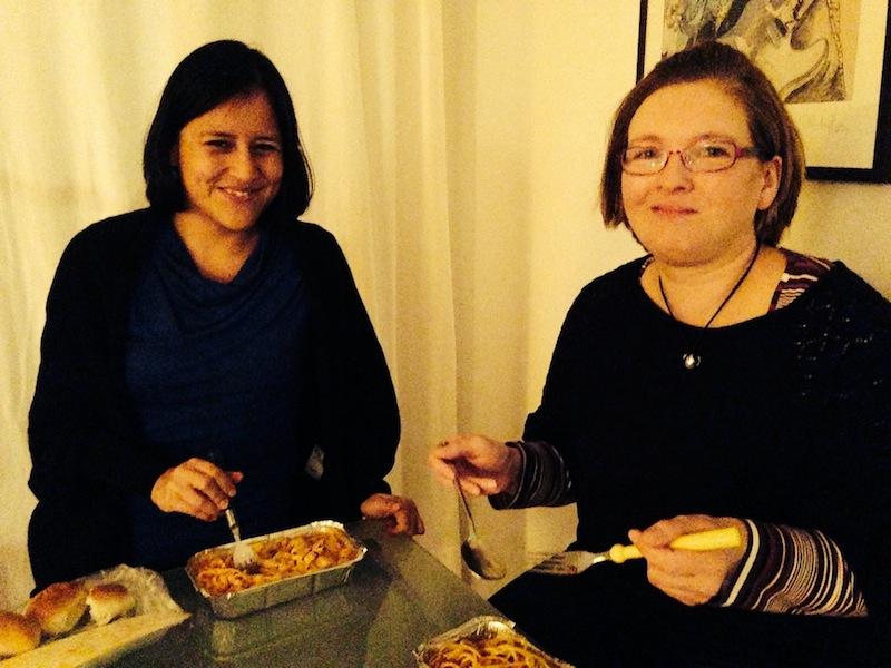 Kelit und Tanja bevorzugen Pasta