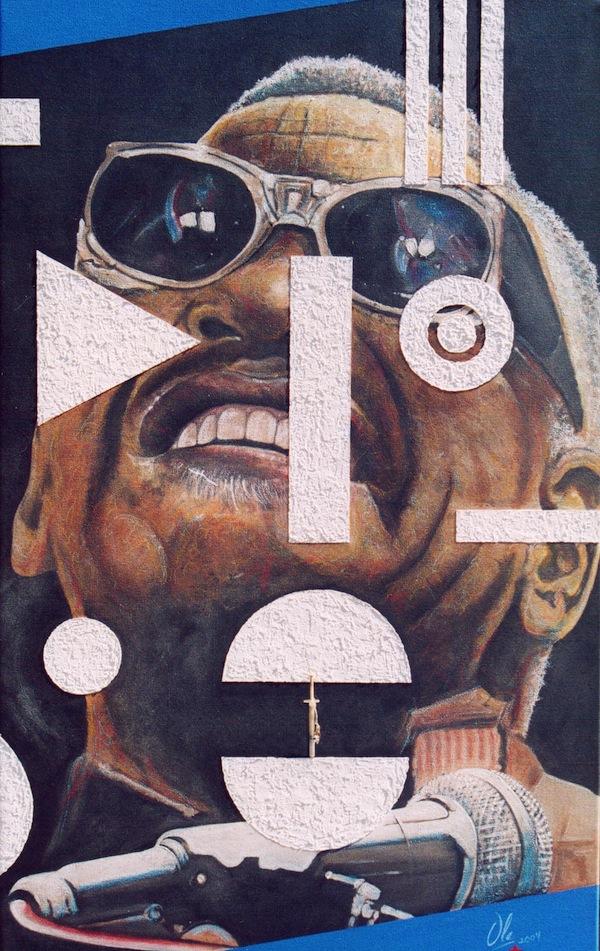 Gemälde Ray Charles
