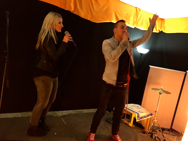 Michi und Tom bei der Open Stage