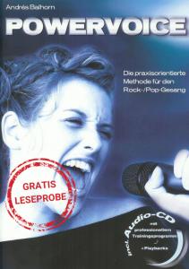 POWERVOICE - Die praxisorientierte Methode für Rock/Pop Gesang