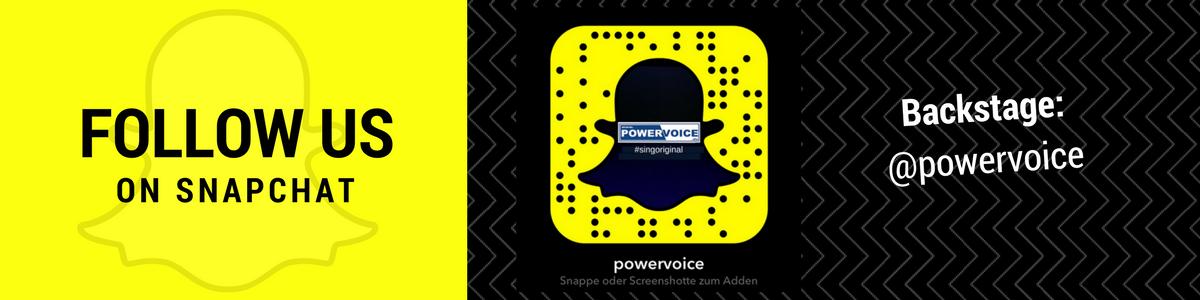 Folge POWERVOICE auf Snapchat