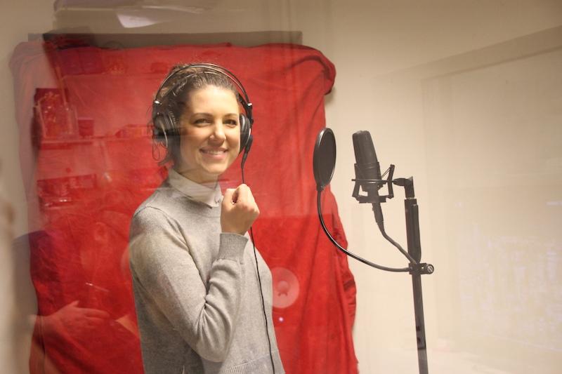 Ausbildung zum Vocalcoach: Christine im Studio
