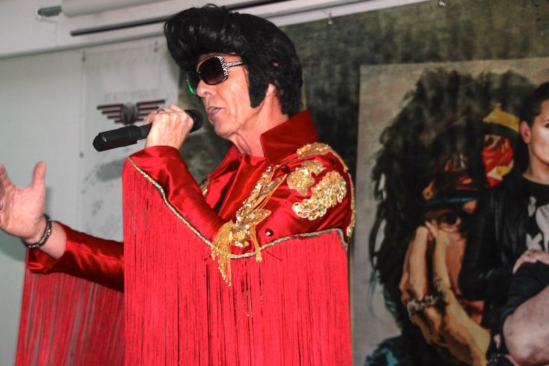 Sängerausbildung Dezember 2017: Rolf als Elvis
