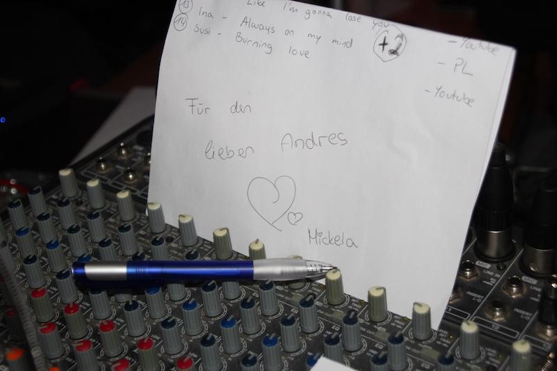 Sängerausbildung Dezember 2017: Songwünsche von Mickela für Andrés