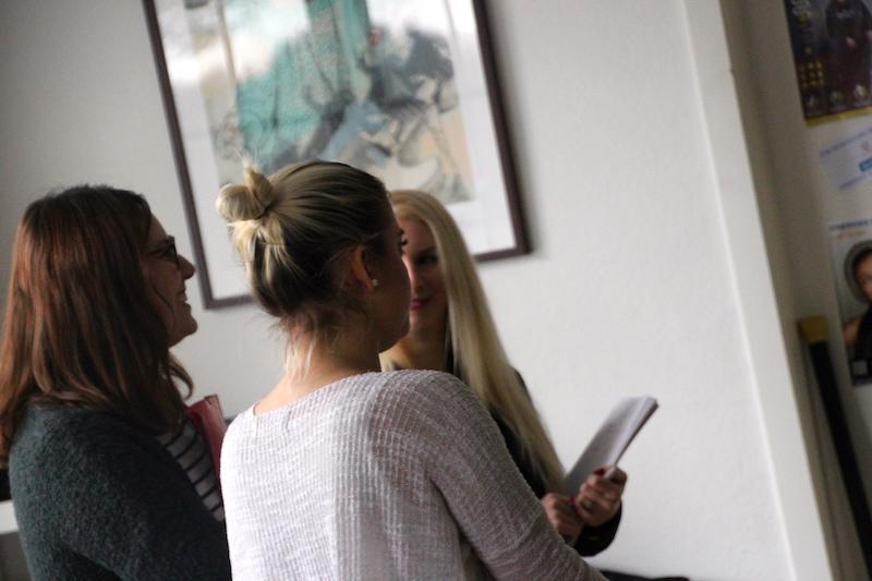 Ausbildung zum Vocalcoach Februar 2018: Die Mädels arbeiten mit Roman