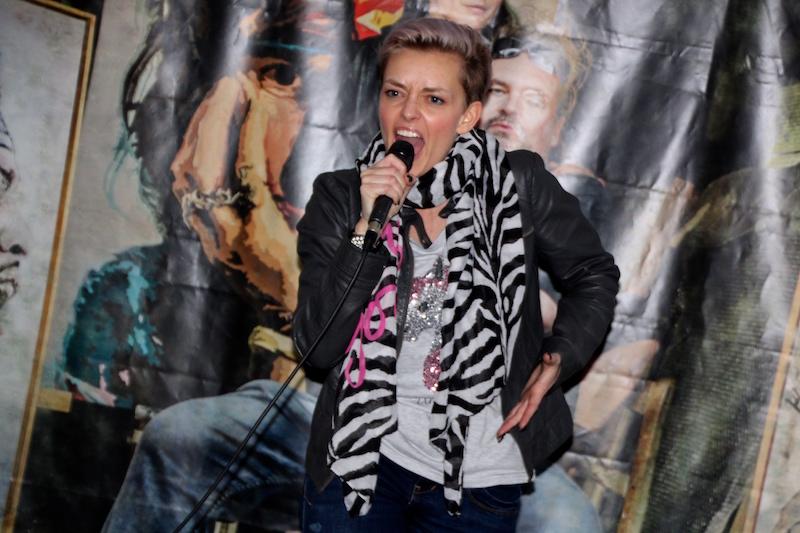 Ausbildung zum Vocalcoach Februar 2018: Kati rockt die Bühne