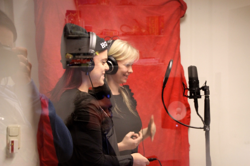 Sängerausbildung Februar 2018: Mikka und Tini im Studio