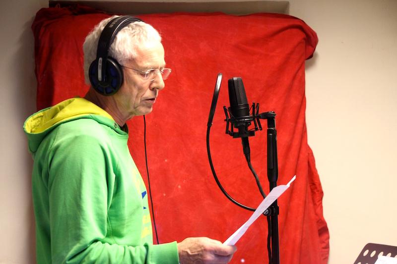 Sängerausbildung März 2018: Die Mehrstimmigkeit wird im Studio aufgenommen