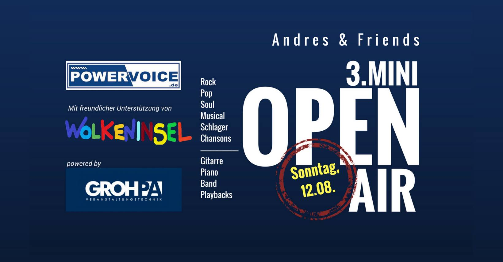 3. Mini Open Air_ Andres & Friends - Der Rock´n`Roll Hänger kommt