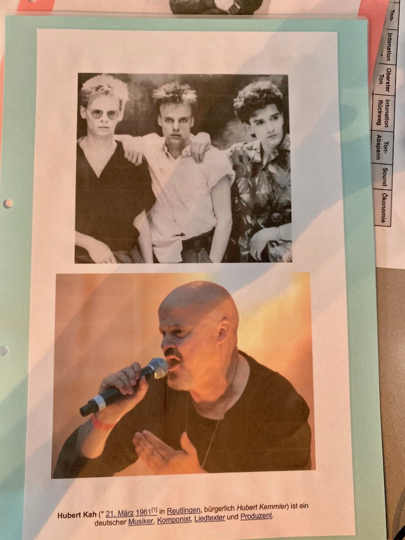Sängerausbildung - Neue Deutsche Welle